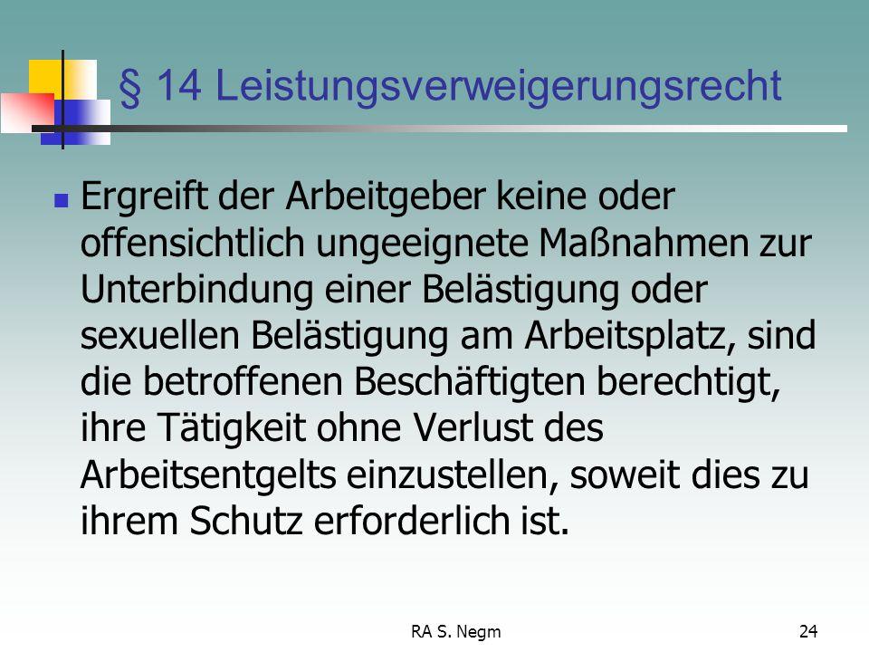§ 14 Leistungsverweigerungsrecht