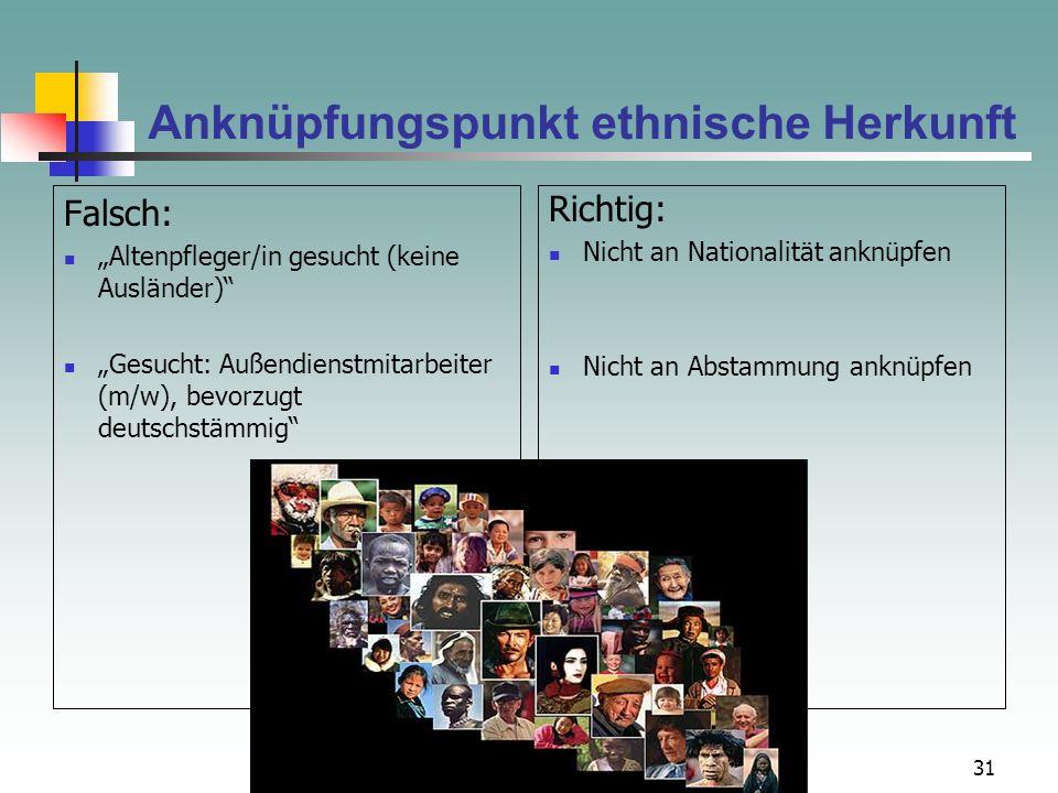 Anknüpfungspunkt ethnische Herkunft