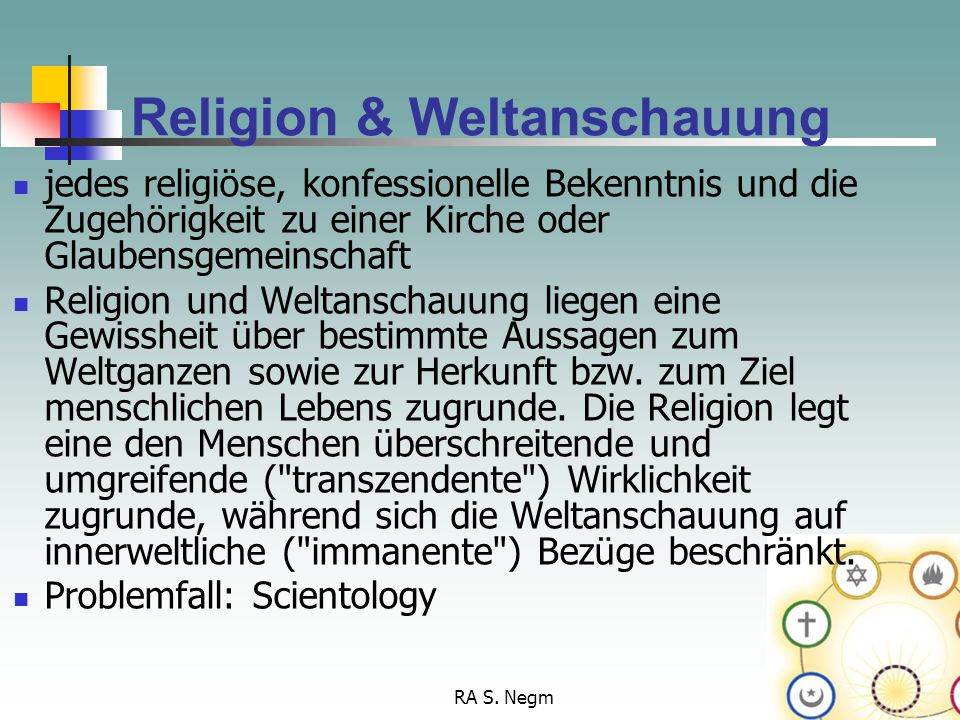 Religion & Weltanschauung