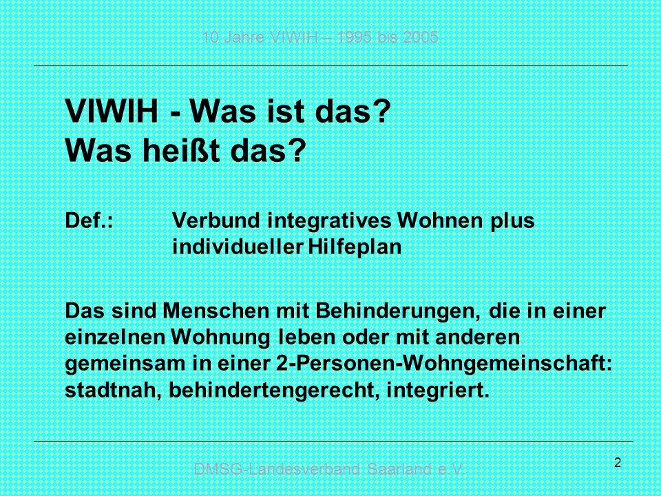 VIWIH - Was ist das Was heißt das