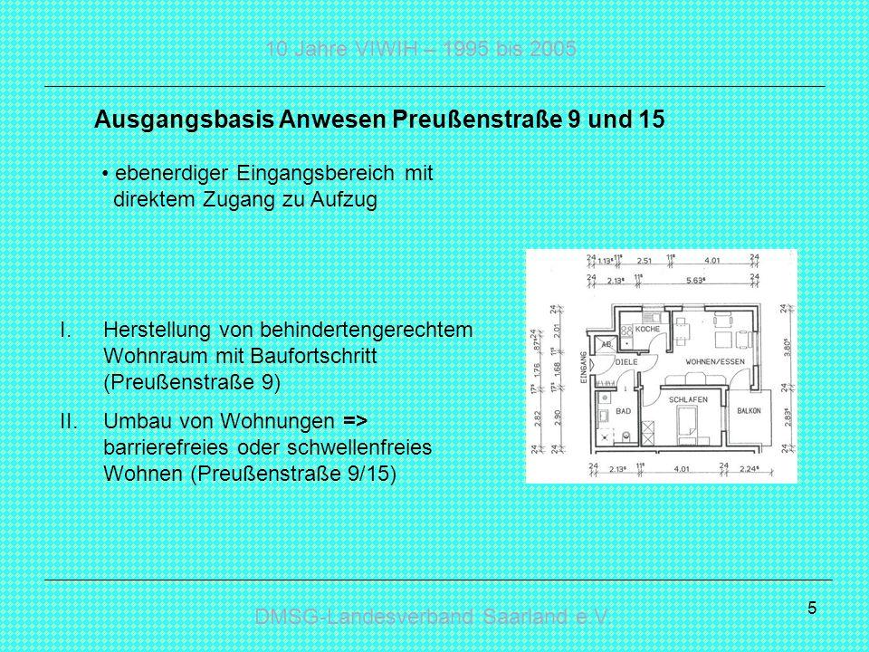 Ausgangsbasis Anwesen Preußenstraße 9 und 15