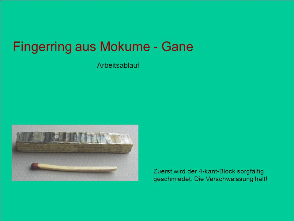 Fingerring aus Mokume - Gane