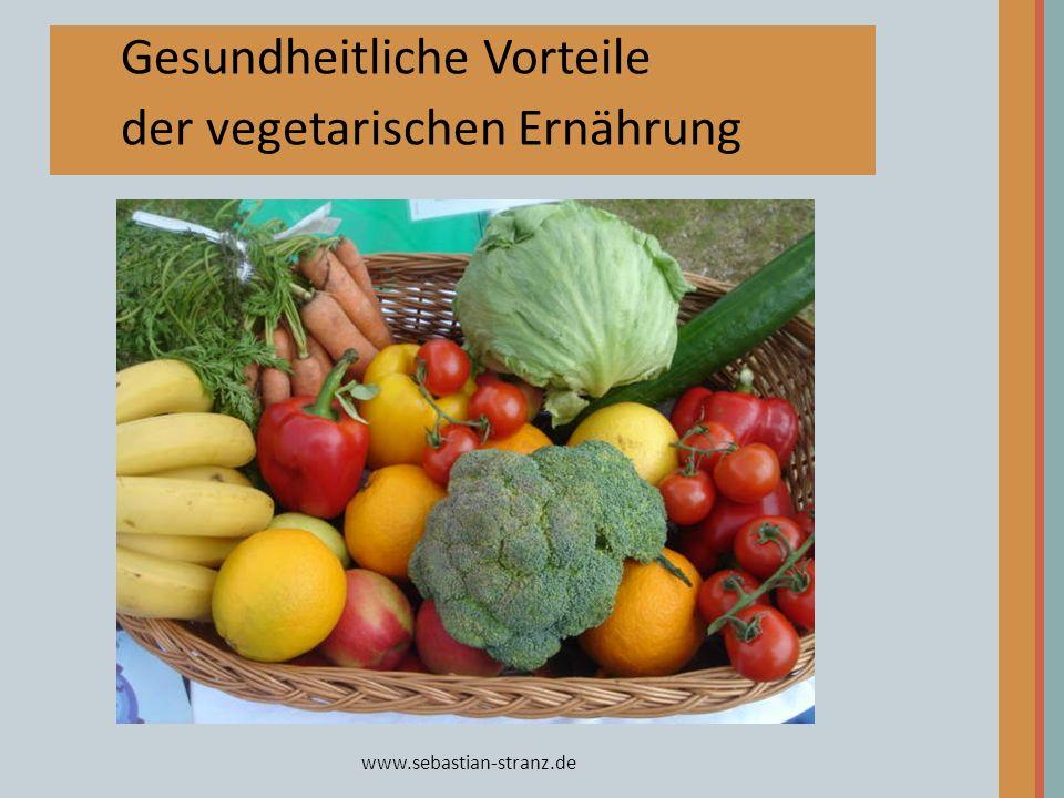 Gesundheitliche Vorteile der vegetarischen Ernährung
