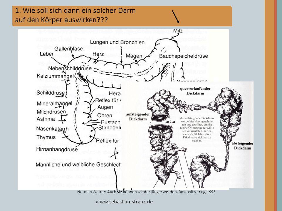 1. Wie soll sich dann ein solcher Darm auf den Körper auswirken