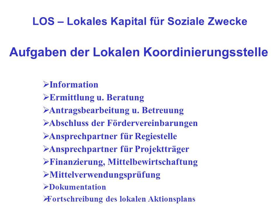 Aufgaben der Lokalen Koordinierungsstelle