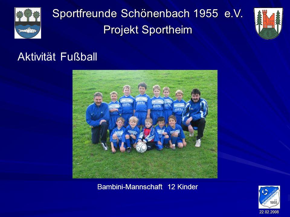 Aktivität Fußball Bambini-Mannschaft 12 Kinder 22.02.2008