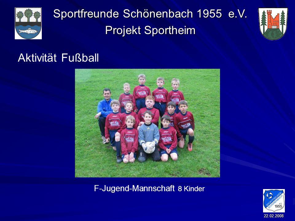 Aktivität Fußball F-Jugend-Mannschaft 8 Kinder 22.02.2008
