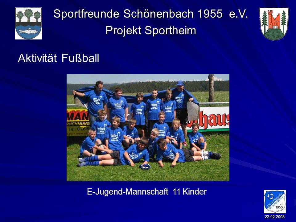 Aktivität Fußball E-Jugend-Mannschaft 11 Kinder 22.02.2008