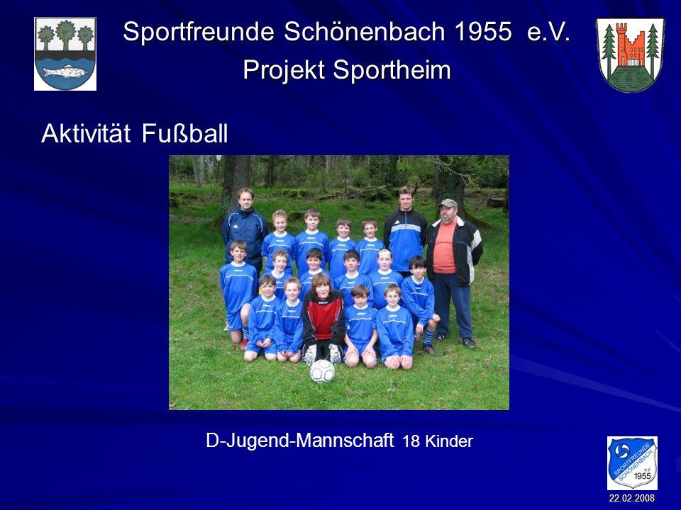 Aktivität Fußball D-Jugend-Mannschaft 18 Kinder 22.02.2008