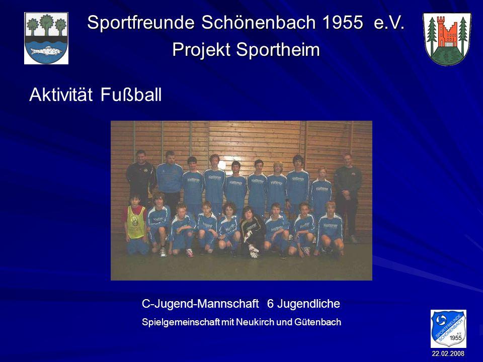 Aktivität Fußball C-Jugend-Mannschaft 6 Jugendliche