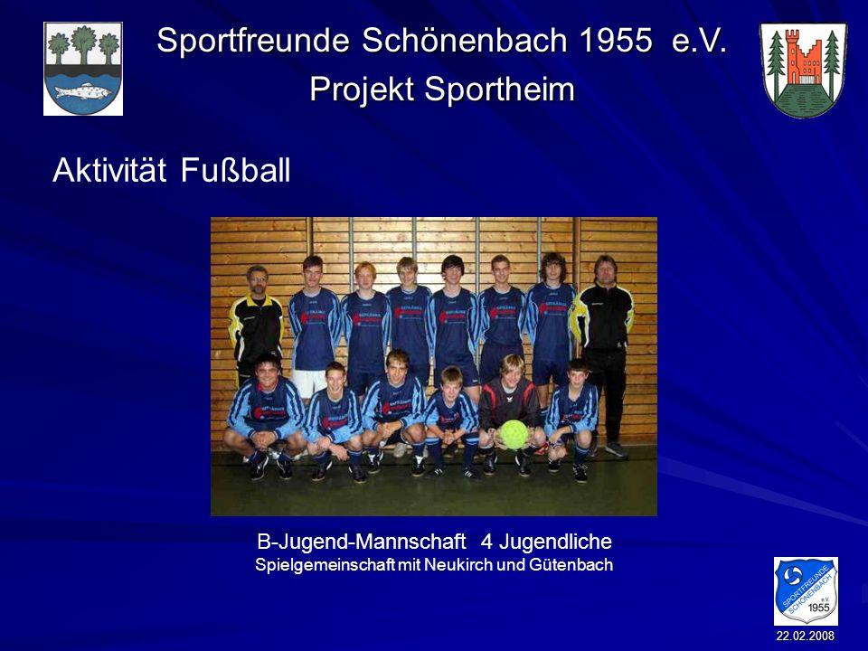 Aktivität Fußball B-Jugend-Mannschaft 4 Jugendliche Spielgemeinschaft mit Neukirch und Gütenbach.