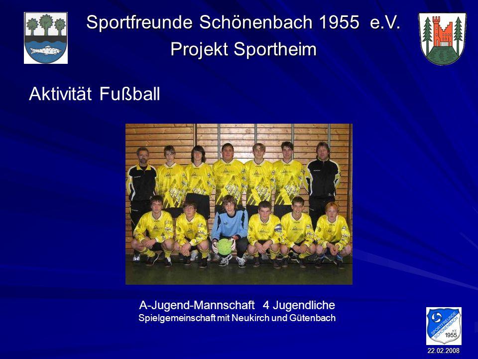 Aktivität FußballA-Jugend-Mannschaft 4 Jugendliche Spielgemeinschaft mit Neukirch und Gütenbach.