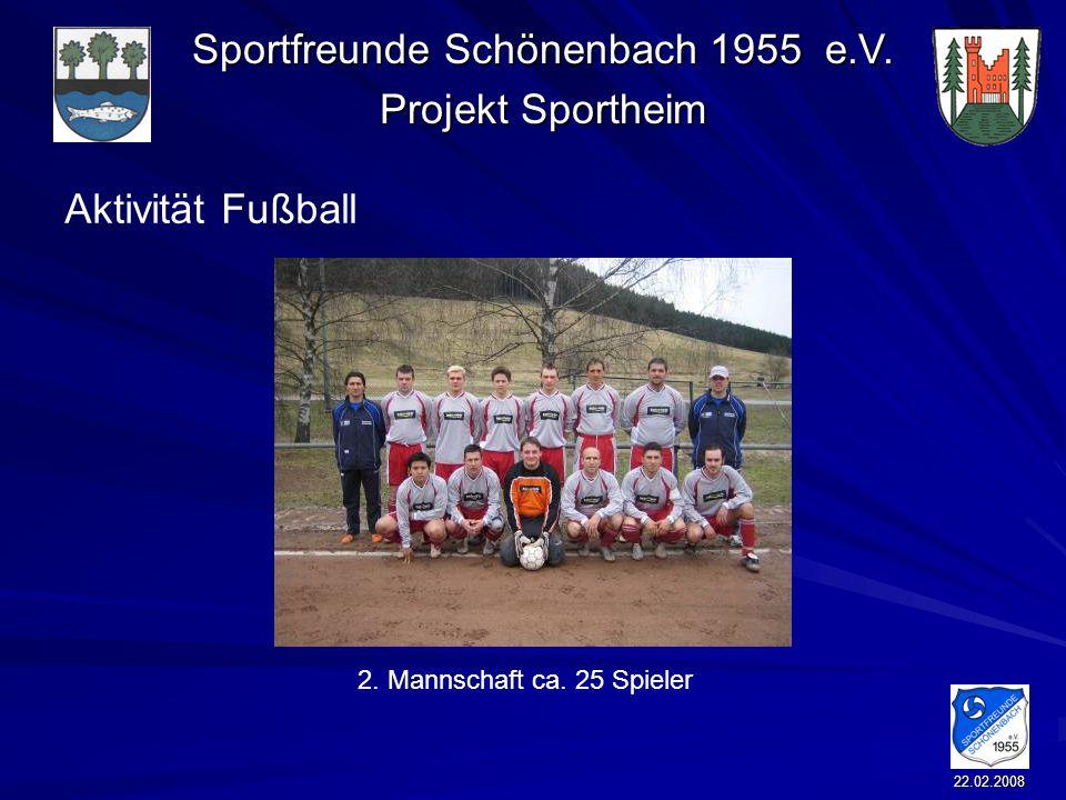 Aktivität Fußball 2. Mannschaft ca. 25 Spieler 22.02.2008