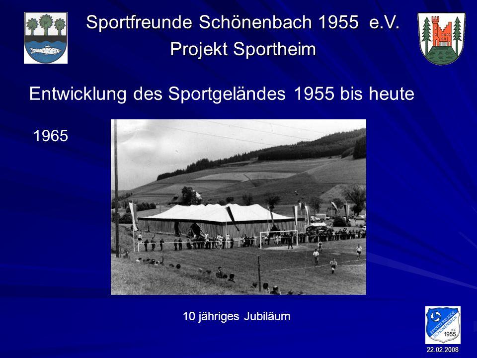 Entwicklung des Sportgeländes 1955 bis heute