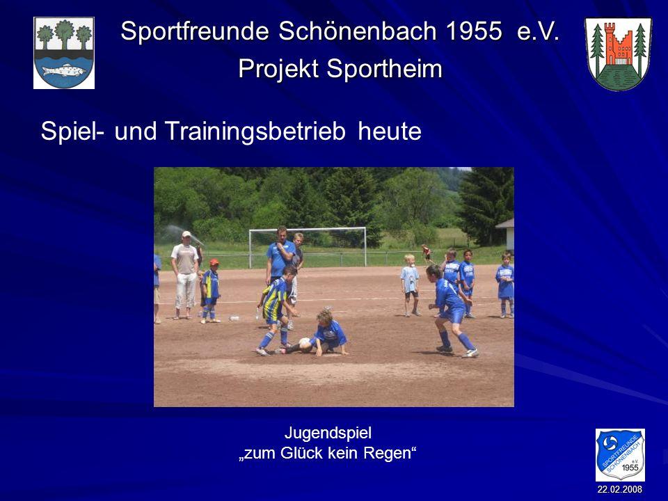 Spiel- und Trainingsbetrieb heute