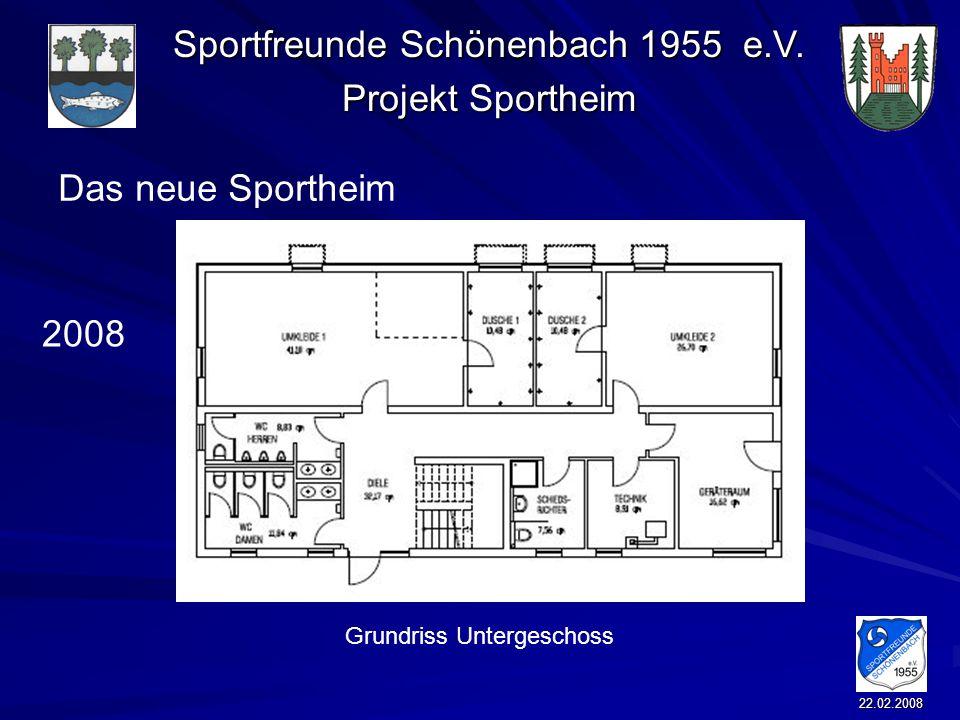 Das neue Sportheim 2008 Grundriss Untergeschoss 22.02.2008