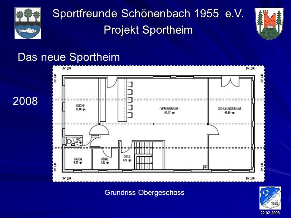 Das neue Sportheim 2008 Grundriss Obergeschoss 22.02.2008