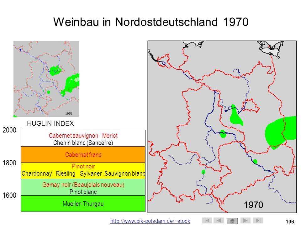 Weinbau in Nordostdeutschland 1970