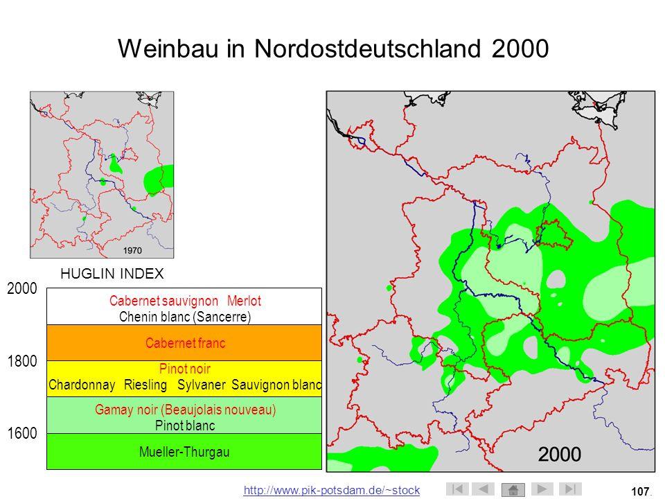 Weinbau in Nordostdeutschland 2000