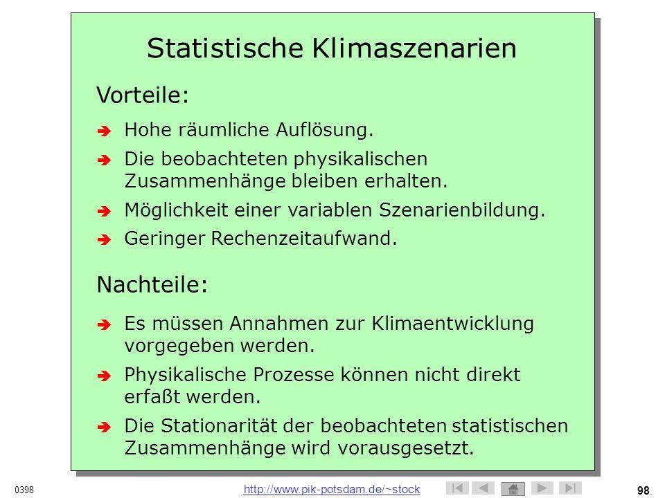 Statistische Klimaszenarien