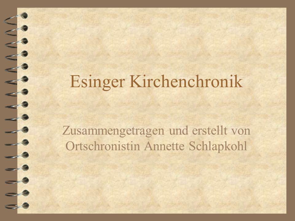 Esinger Kirchenchronik