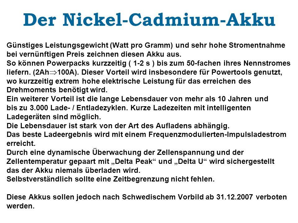 Der Nickel-Cadmium-Akku
