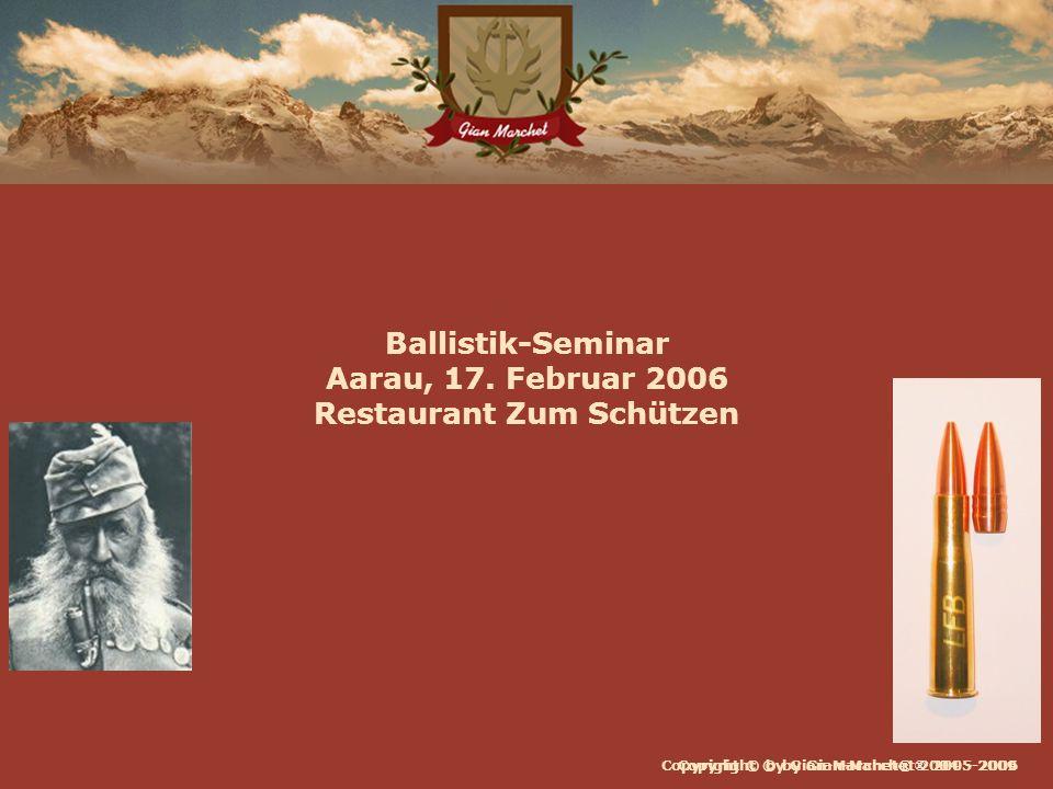 Ballistik-Seminar Aarau, 17. Februar 2006