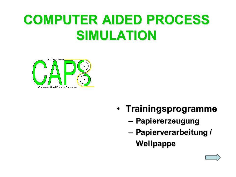 COMPUTER AIDED PROCESS SIMULATION