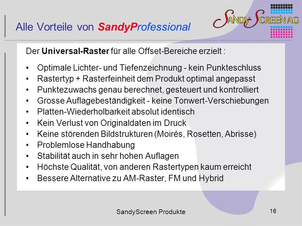 Alle Vorteile von SandyProfessional