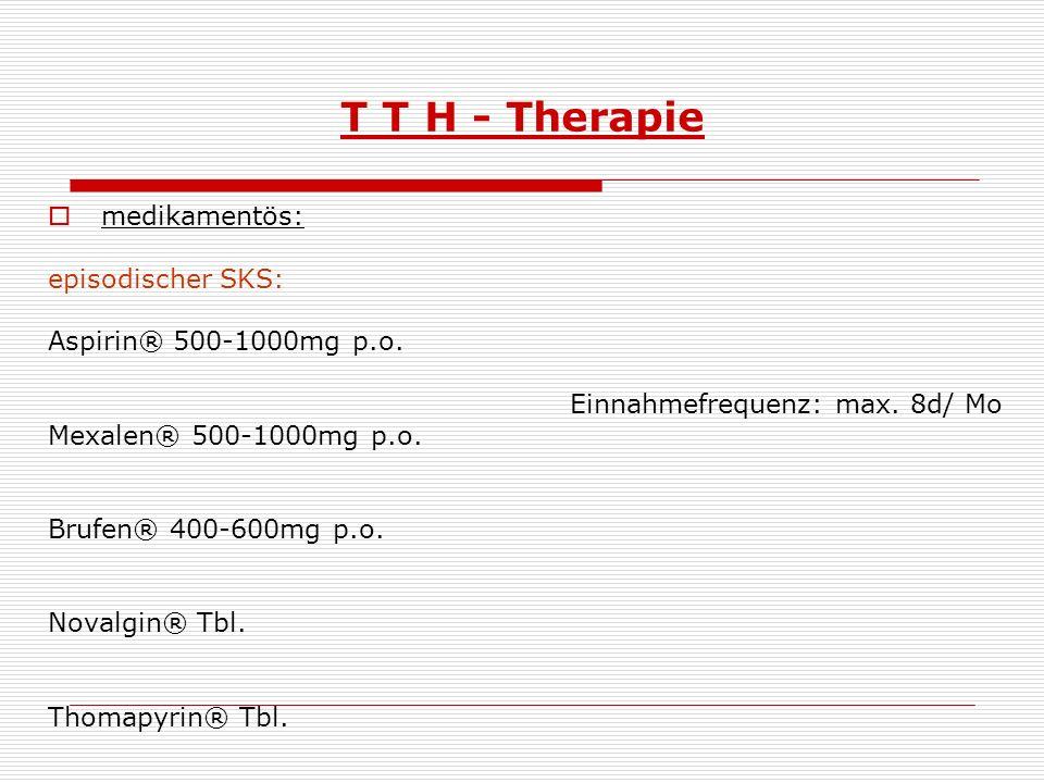 T T H - Therapie medikamentös: episodischer SKS: