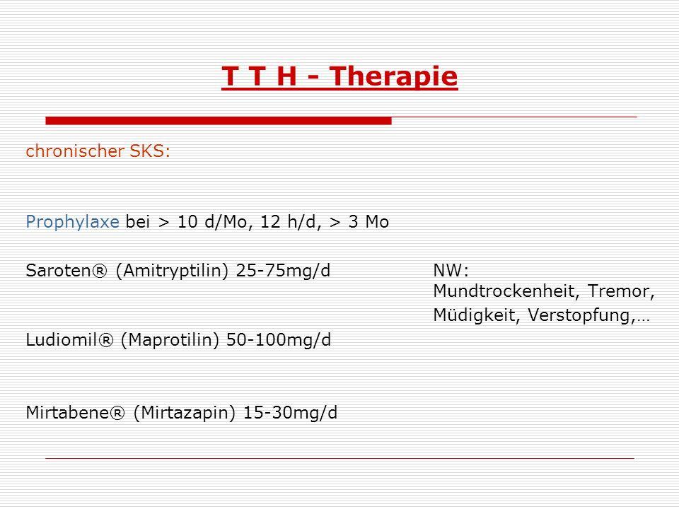 T T H - Therapie chronischer SKS: