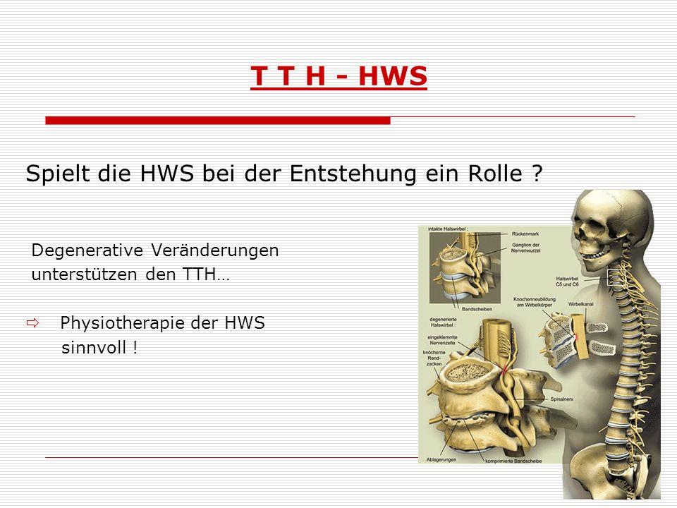 T T H - HWS Spielt die HWS bei der Entstehung ein Rolle