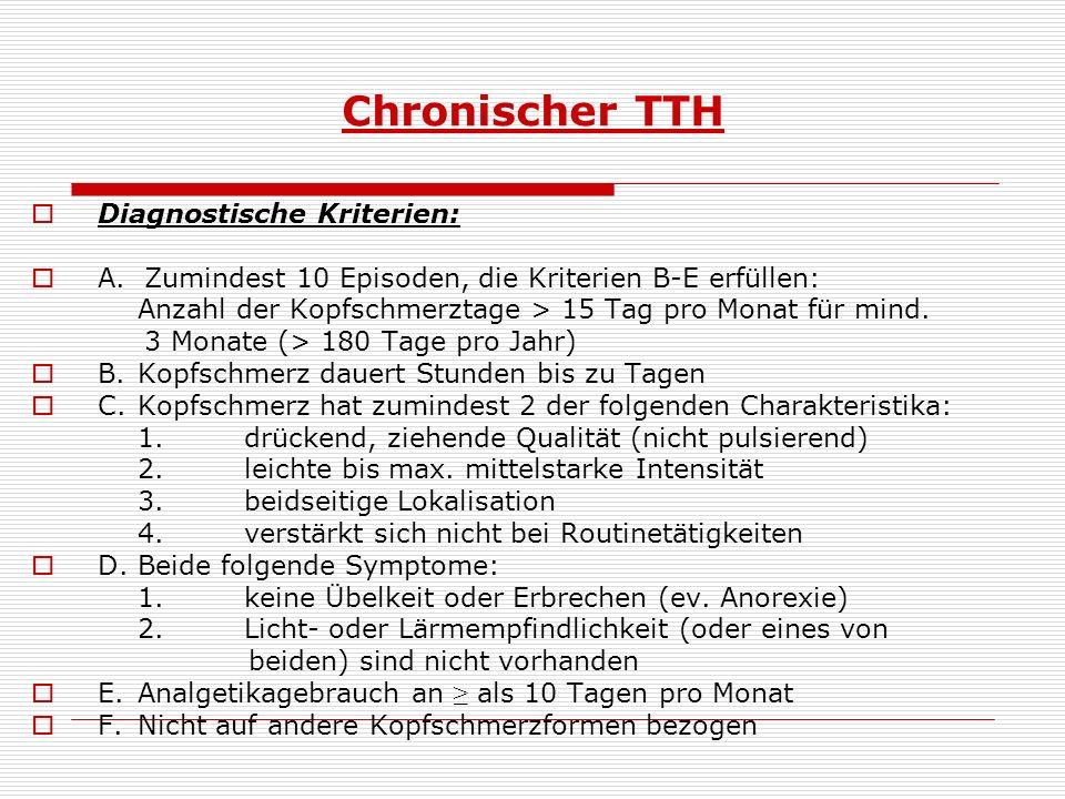 Chronischer TTH Diagnostische Kriterien: