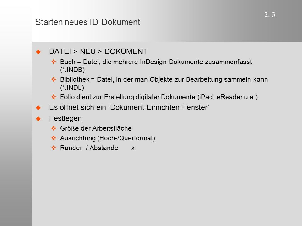 Starten neues ID-Dokument