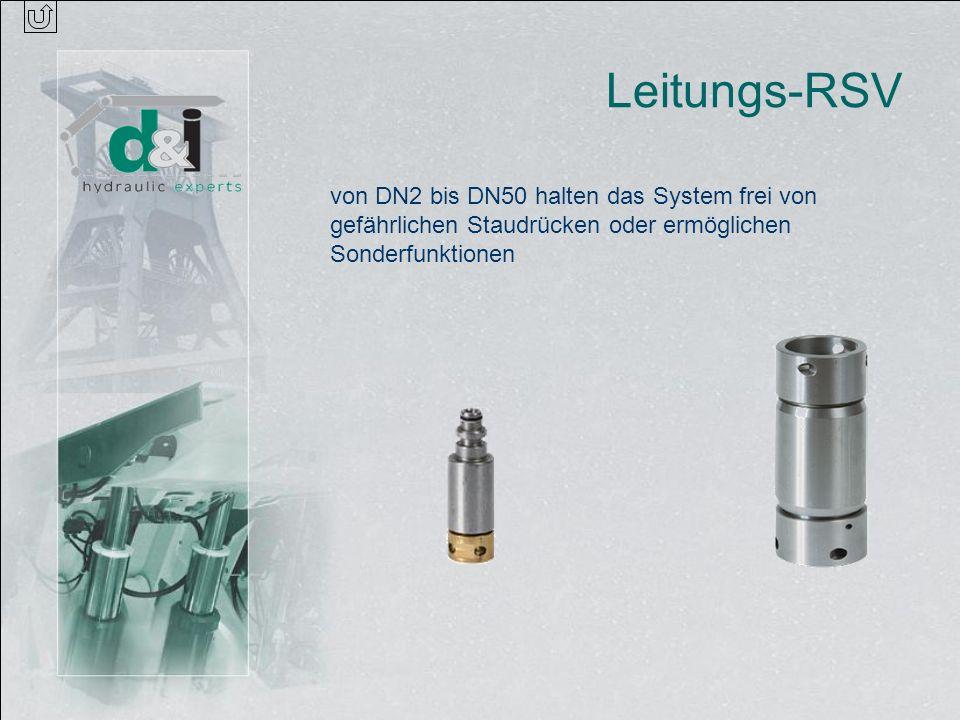 Leitungs-RSV von DN2 bis DN50 halten das System frei von gefährlichen Staudrücken oder ermöglichen Sonderfunktionen.