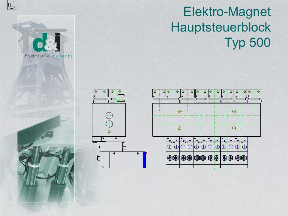 Elektro-Magnet Hauptsteuerblock Typ 500