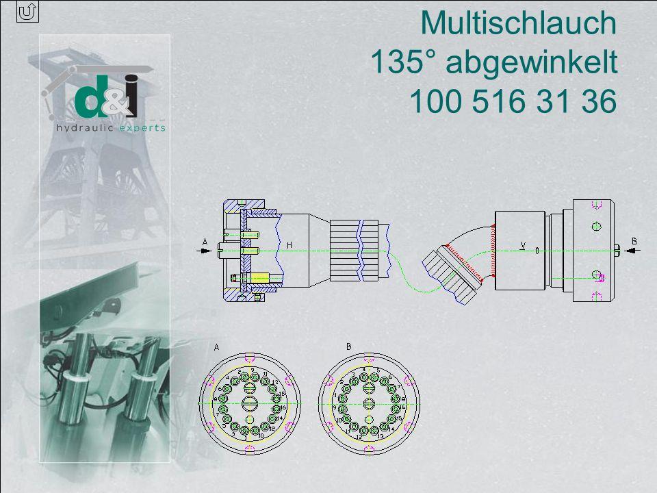 Multischlauch 135° abgewinkelt 100 516 31 36