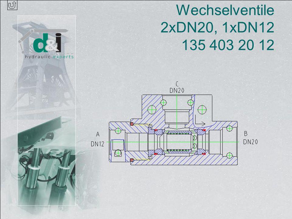 Wechselventile 2xDN20, 1xDN12 135 403 20 12