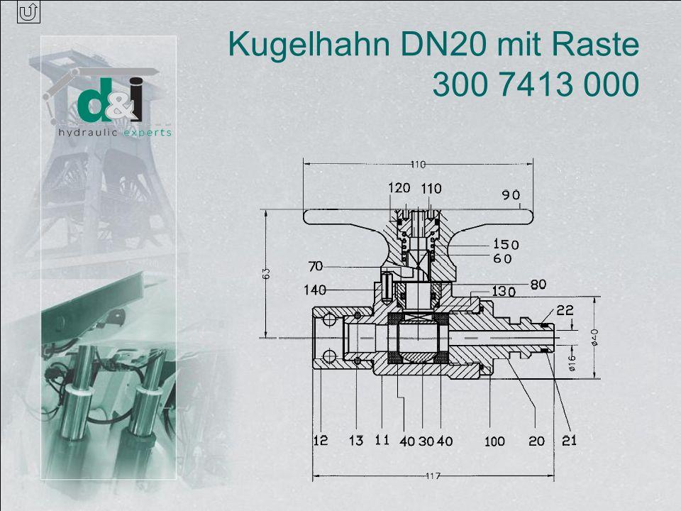 Kugelhahn DN20 mit Raste 300 7413 000