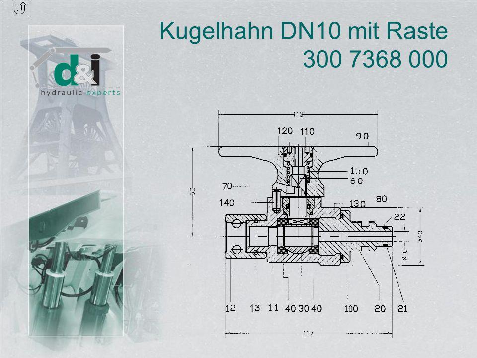 Kugelhahn DN10 mit Raste 300 7368 000