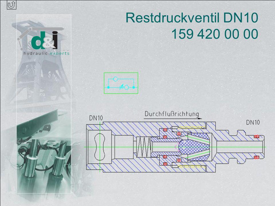 Restdruckventil DN10 159 420 00 00