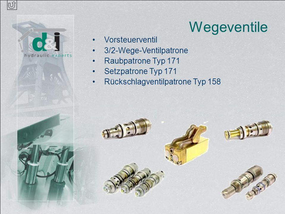 Wegeventile Vorsteuerventil 3/2-Wege-Ventilpatrone Raubpatrone Typ 171