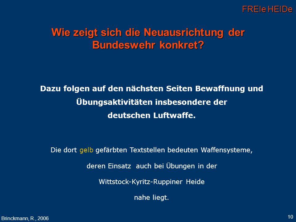 Wie zeigt sich die Neuausrichtung der Bundeswehr konkret