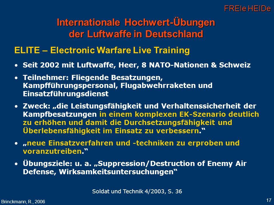 Internationale Hochwert-Übungen der Luftwaffe in Deutschland