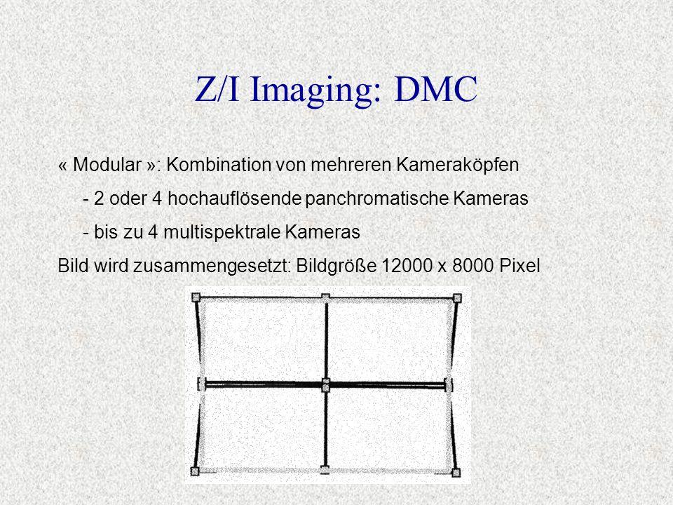 Z/I Imaging: DMC « Modular »: Kombination von mehreren Kameraköpfen