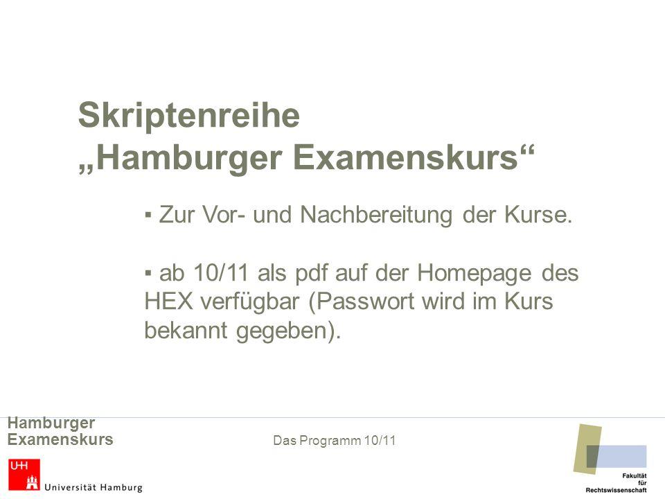 "Skriptenreihe ""Hamburger Examenskurs"