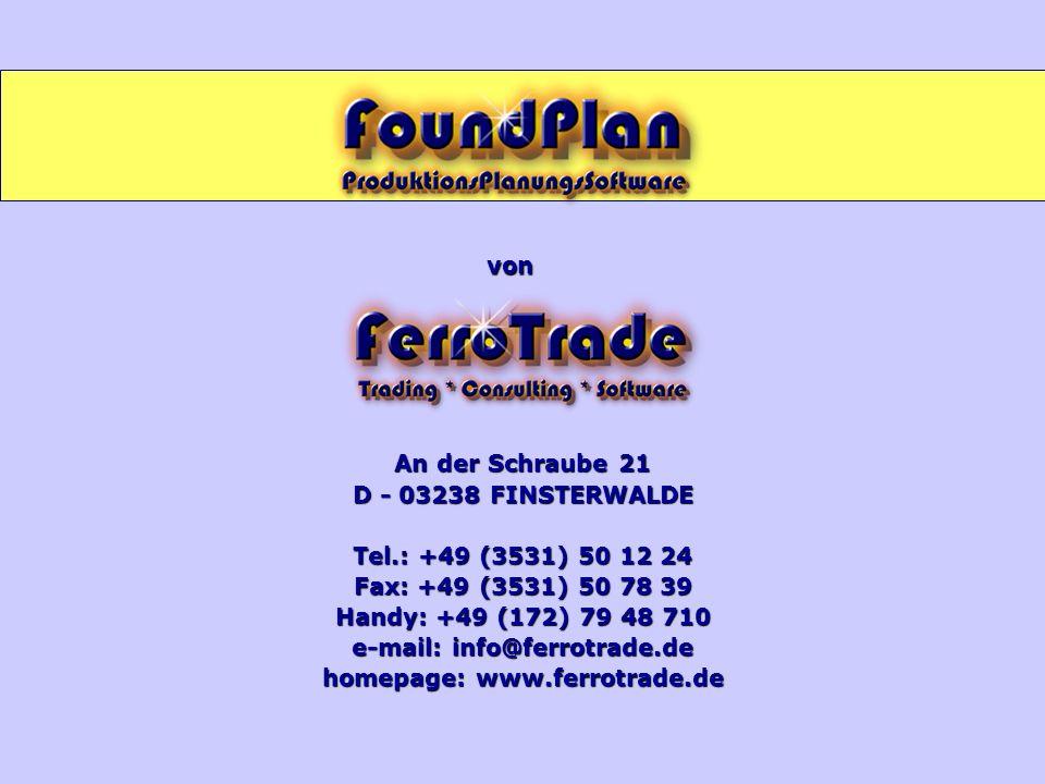 e-mail: info@ferrotrade.de homepage: www.ferrotrade.de