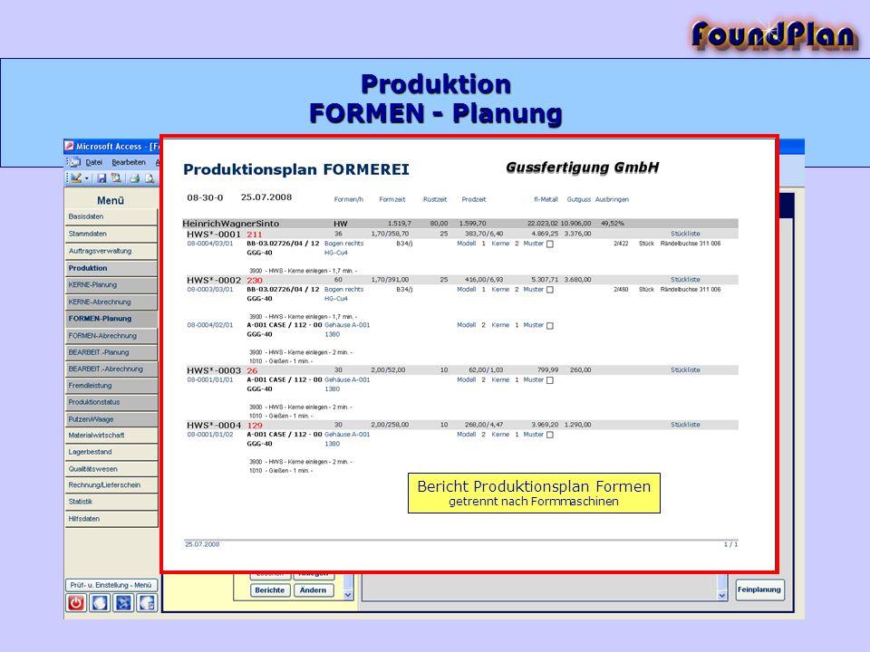 Produktion FORMEN - Planung