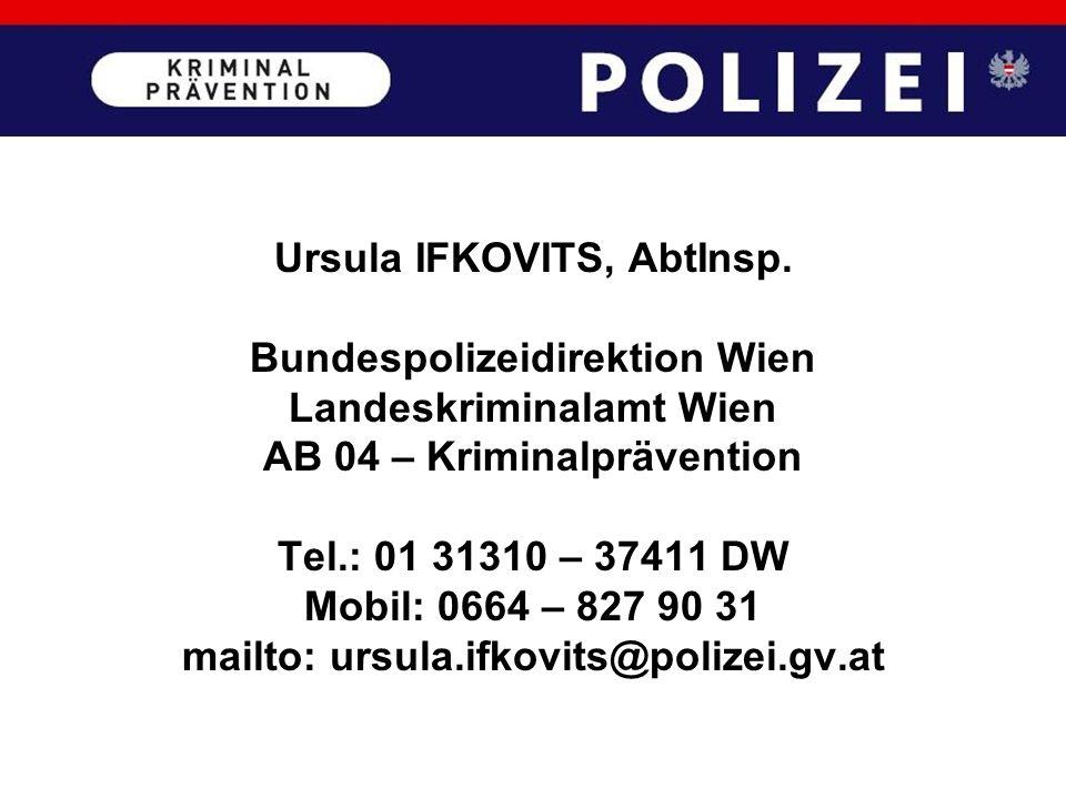 Ursula IFKOVITS, AbtInsp. Bundespolizeidirektion Wien
