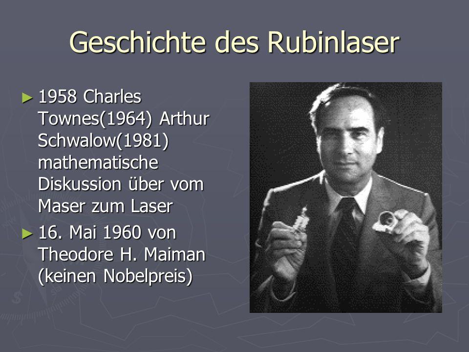Geschichte des Rubinlaser